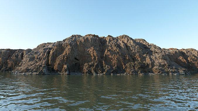 Coastal rocky cliff