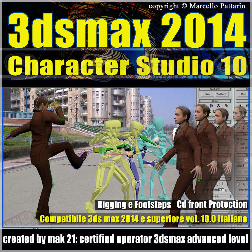 3ds max 2014 Character Studio v 10 Italiano cd front