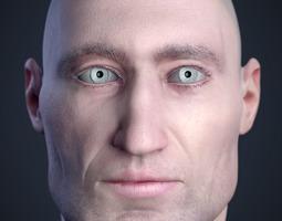 cranial facial reconstruction - european male head sculpt 3d printable model