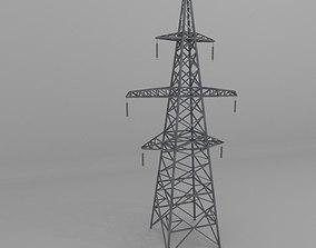 3D asset Column Power Lines 1
