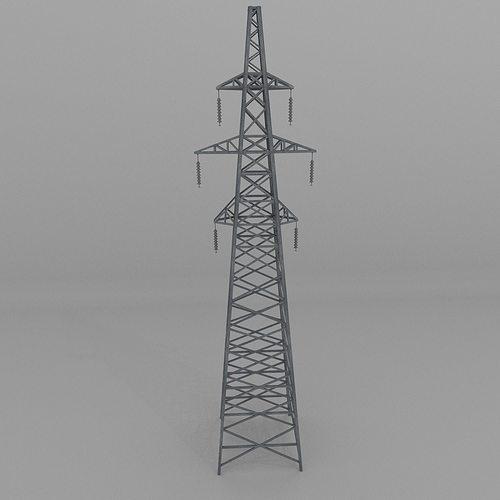 column power lines 2 3d model obj 3ds fbx blend dae x3d 1