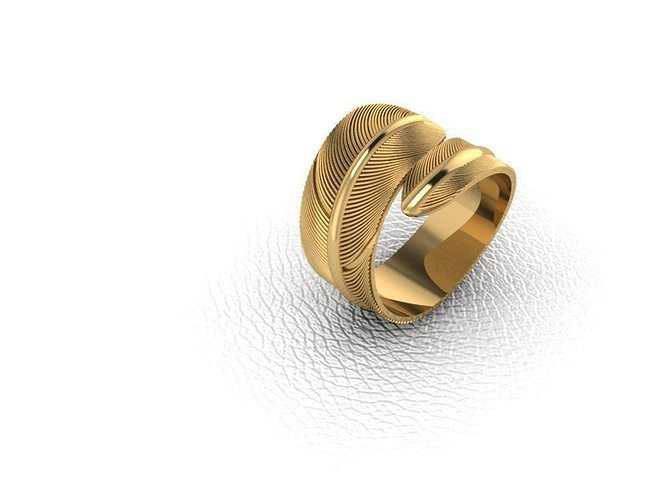 ring-feather 3d model stl 3dm 1