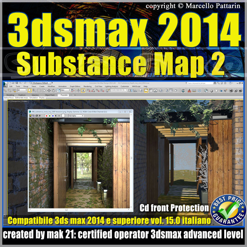 3ds max 2014 Substance Map v 15 Italiano cd front