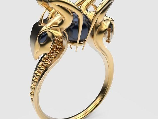 Ring snakes 3D print model