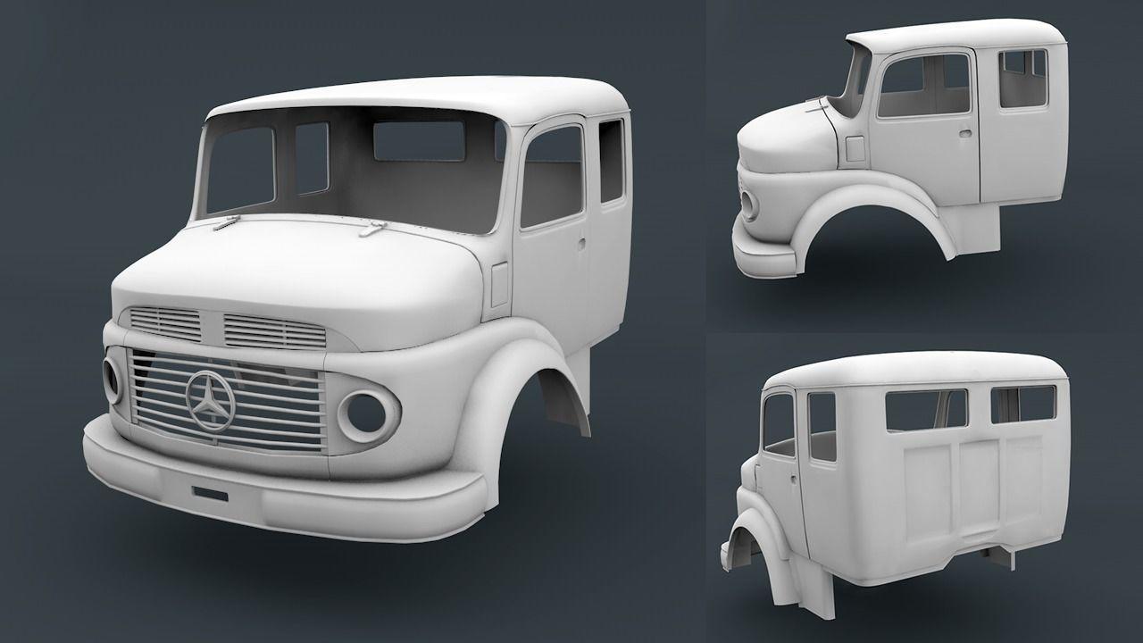 Mercedes Benz 1519 Cabin Truck | 3D Print Model