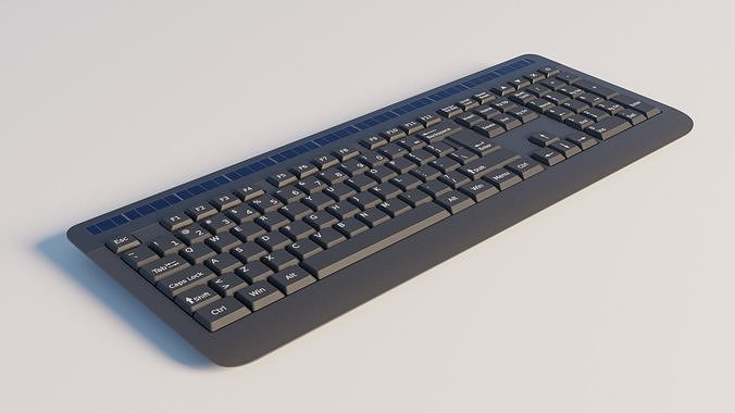 generic wireless keyboard 3d model obj mtl fbx stl blend dae spp 1