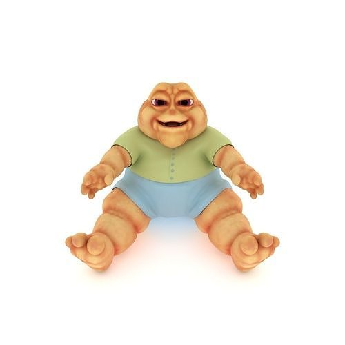 baby sinclair with hollow earth 3d model max obj mtl fbx c4d ma mb mel 1