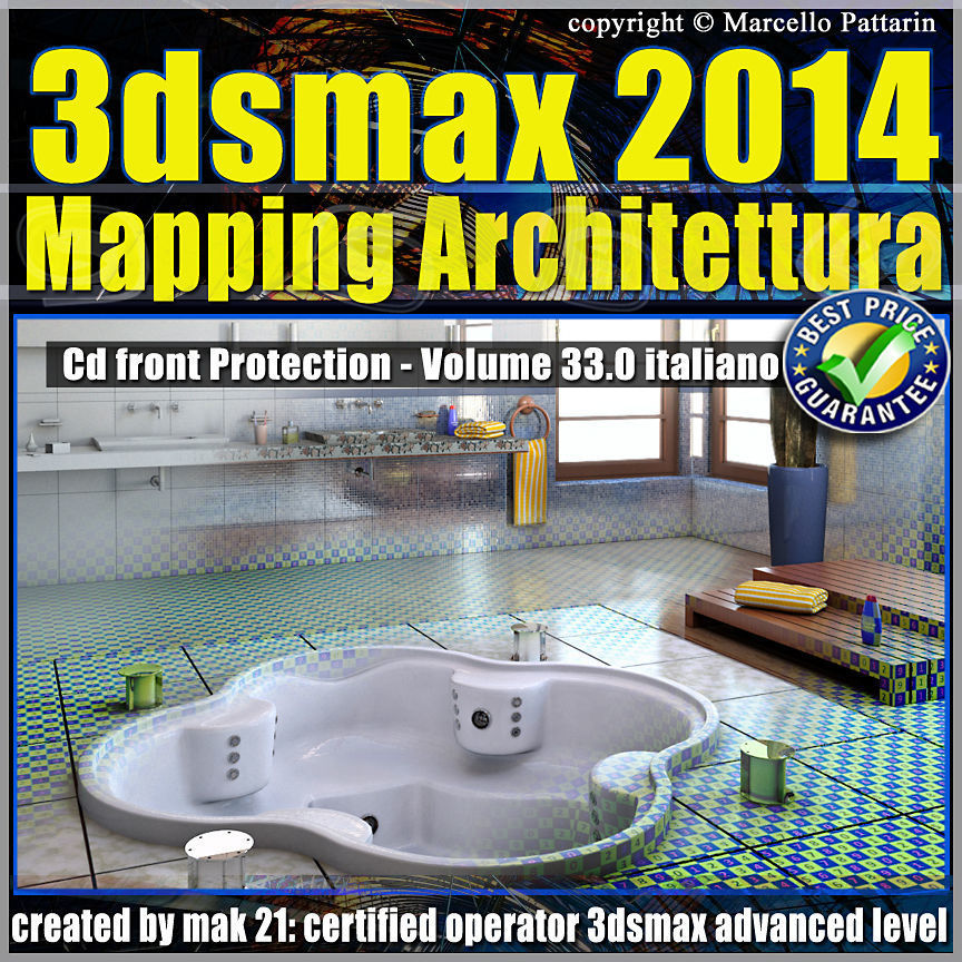 3ds max 2014 Mapping Architettura vol 33 Italiano cd front