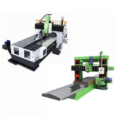 collection of milling machines 3d model max fbx 1