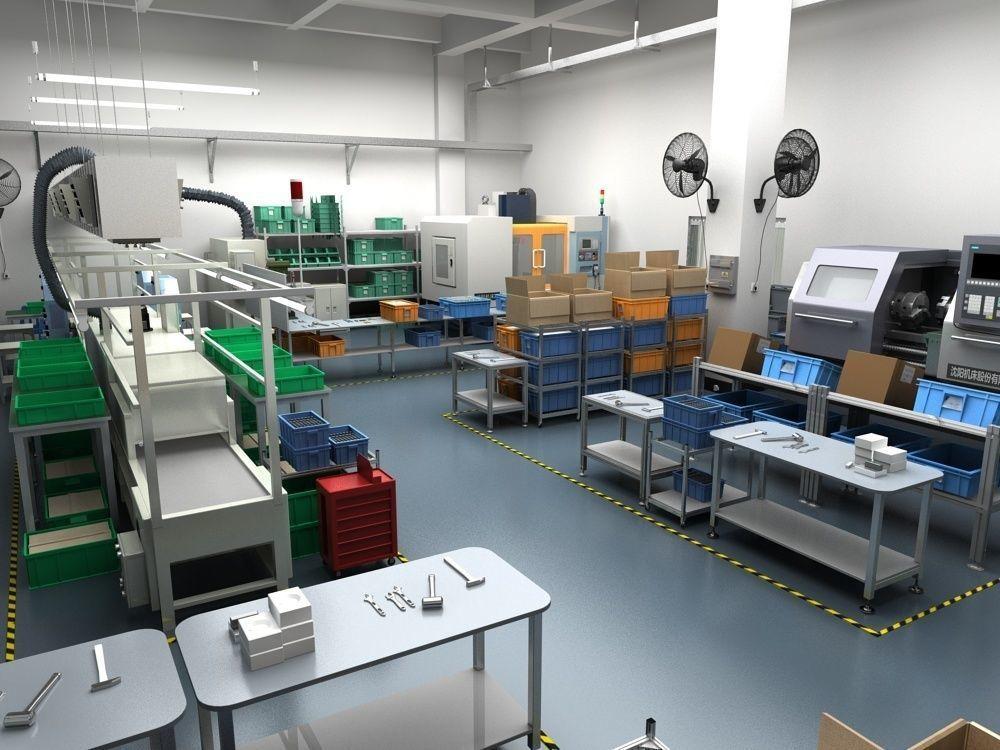Factory Interior Scene and Equipment 2