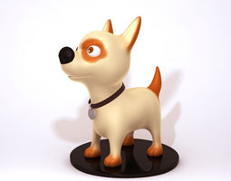 3D model Dog cartoon 01