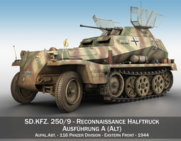 SD KFZ 250 9 - Reconnaissance Halftruck - 116 PzDiv 3D