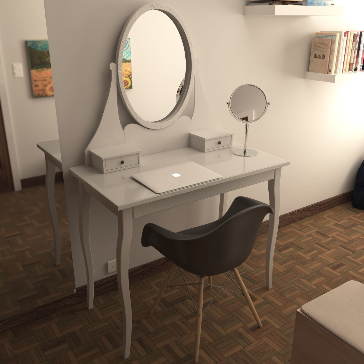 Hemnes Dressing Table With Mirror Model