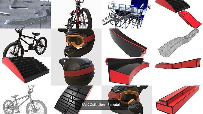 bmx collection 3d model fbx ma mb stl 1