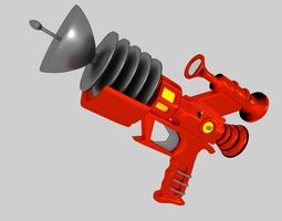 Retrofuturistic Raygun 3D model
