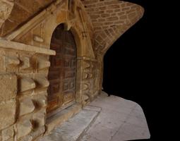 3d model door of the hopital saint-jacques pradelles france