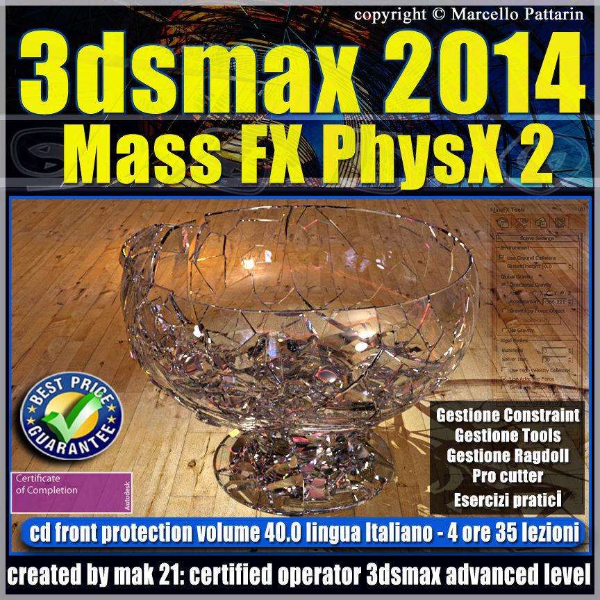3dsmax 2014 Mass Fx PhysX v 40 Italiano cd front