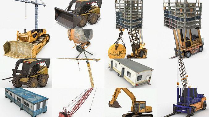 industrial pack collection 3d model max obj mtl 3ds fbx c4d dae 1
