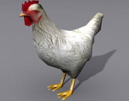 lowpoly hen 2 low-poly 3d asset