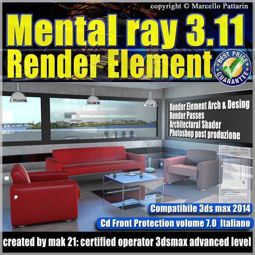 Mental Ray 3 11 In 3dsmax 2014 Vol 7 Italiano cd front