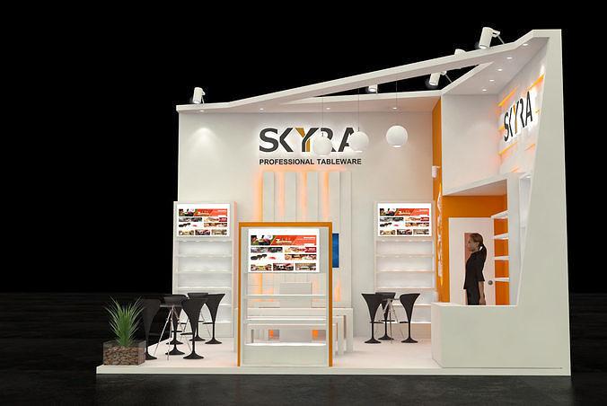 5m x 6m 30 sqmtrs stall skyra 3d model max 1