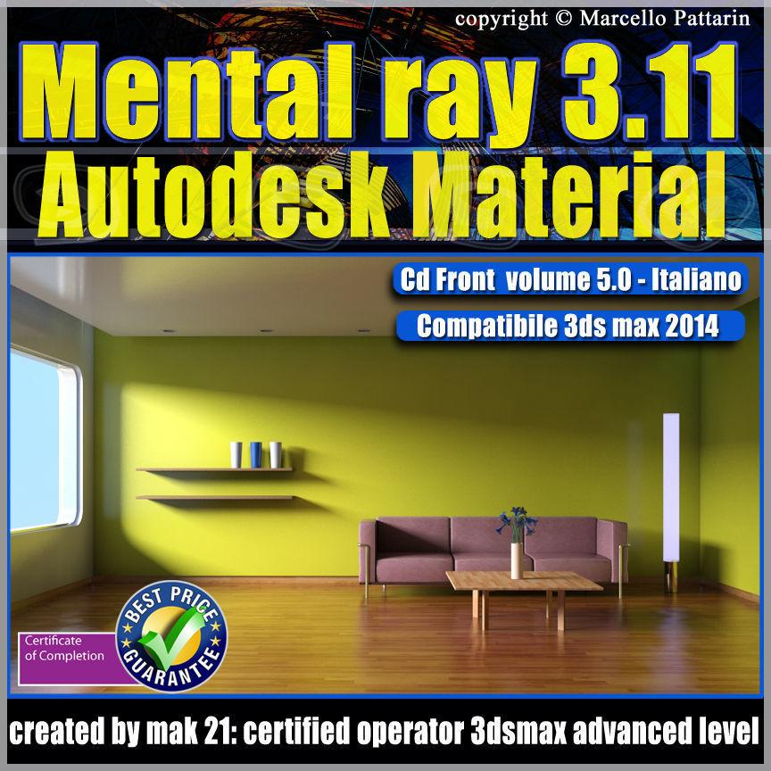 Mental ray 3 11 3dsmax 2014 Vol 5 Autodesk Material cd front
