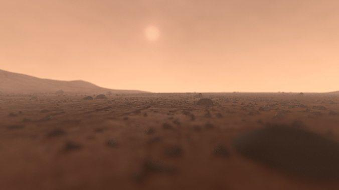 mars surface - full scene 3d model obj mtl fbx ma mb mel 1