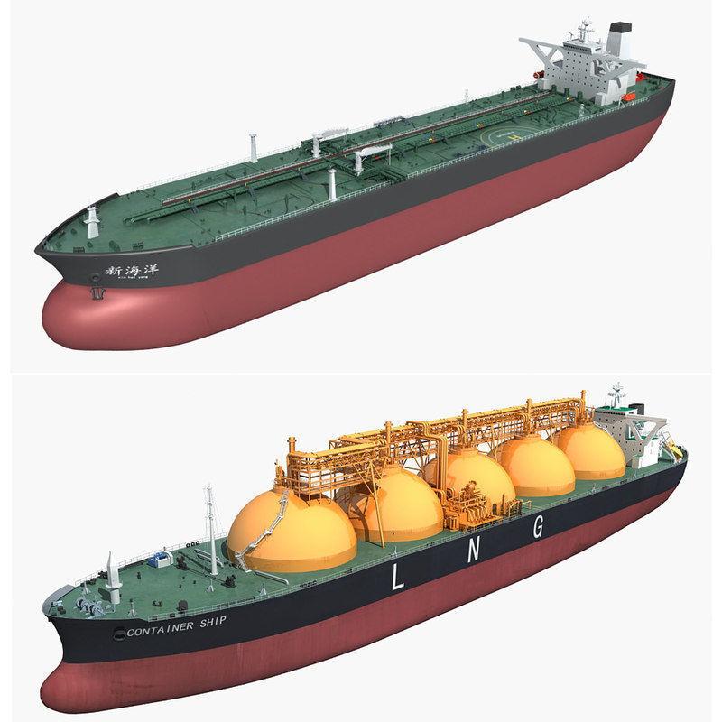 Cargo ships collection