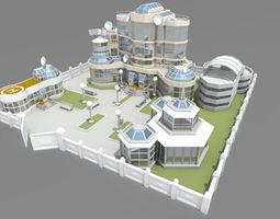 cartoon base location 3d model
