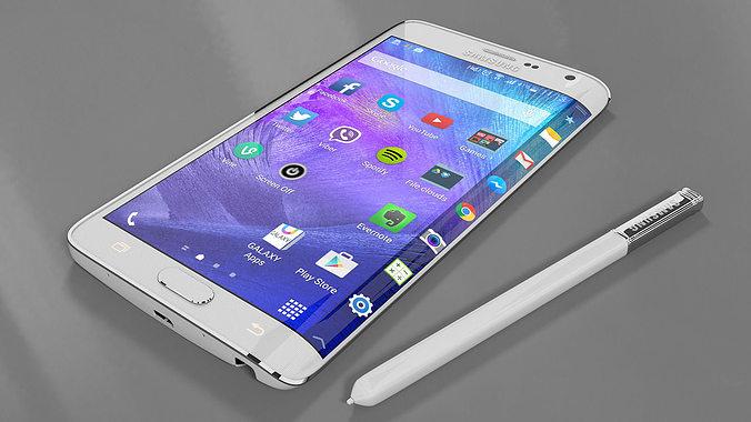 Samsung galaxy note edge 3d model