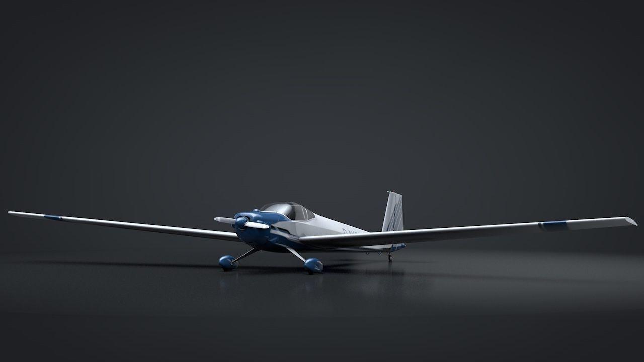 Scheibe Falke SF-25 Motorglider Rigged | 3D model
