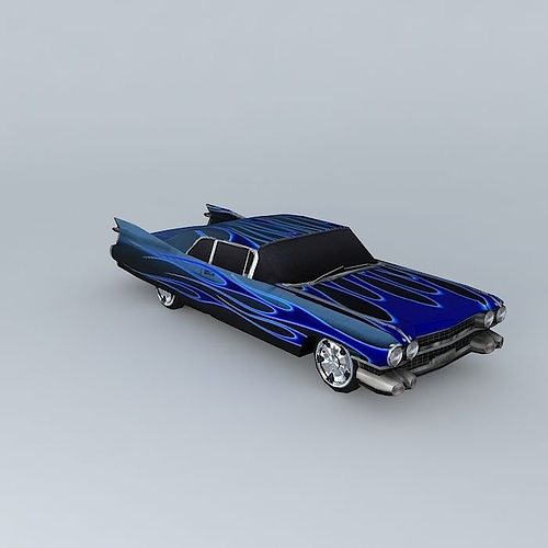 dream blue 3d model low-poly max obj mtl 3ds fbx stl dae 1