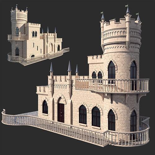 castle swallow   3d model max obj mtl fbx 1