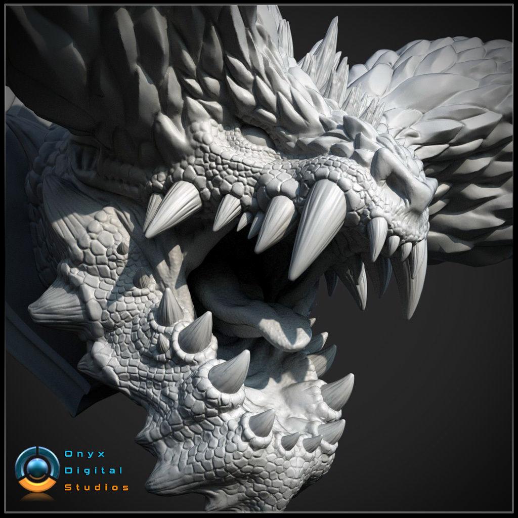 3D Printable Monster hunter head - Nergigante