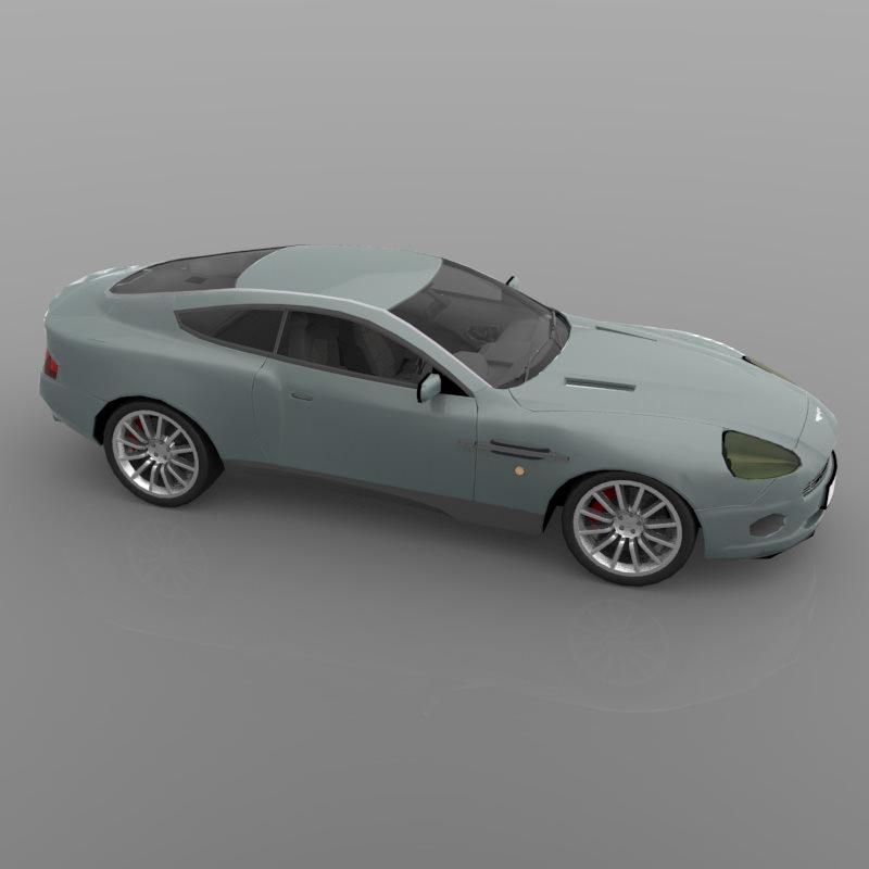 2012 Aston Martin Vantage Interior: Aston Martin DB7 Vanquish 3D Model OBJ
