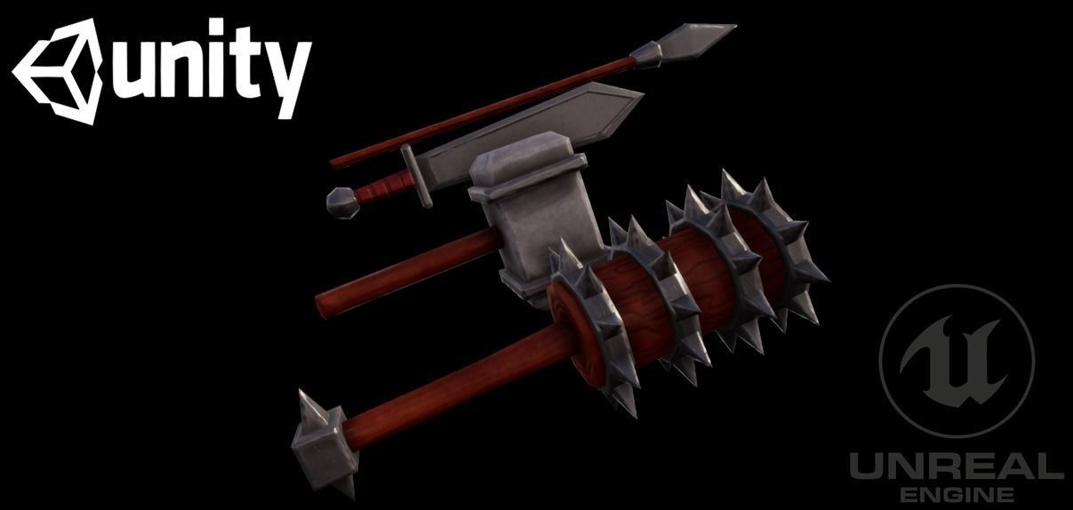 Stylized weapons | 3D model