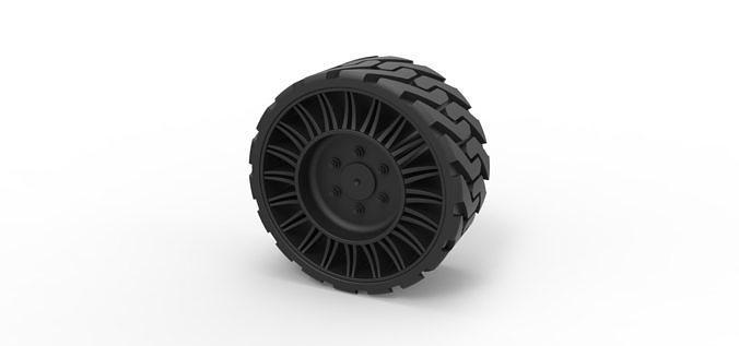 diecast twheel from front loader 3d model obj mtl stl 1
