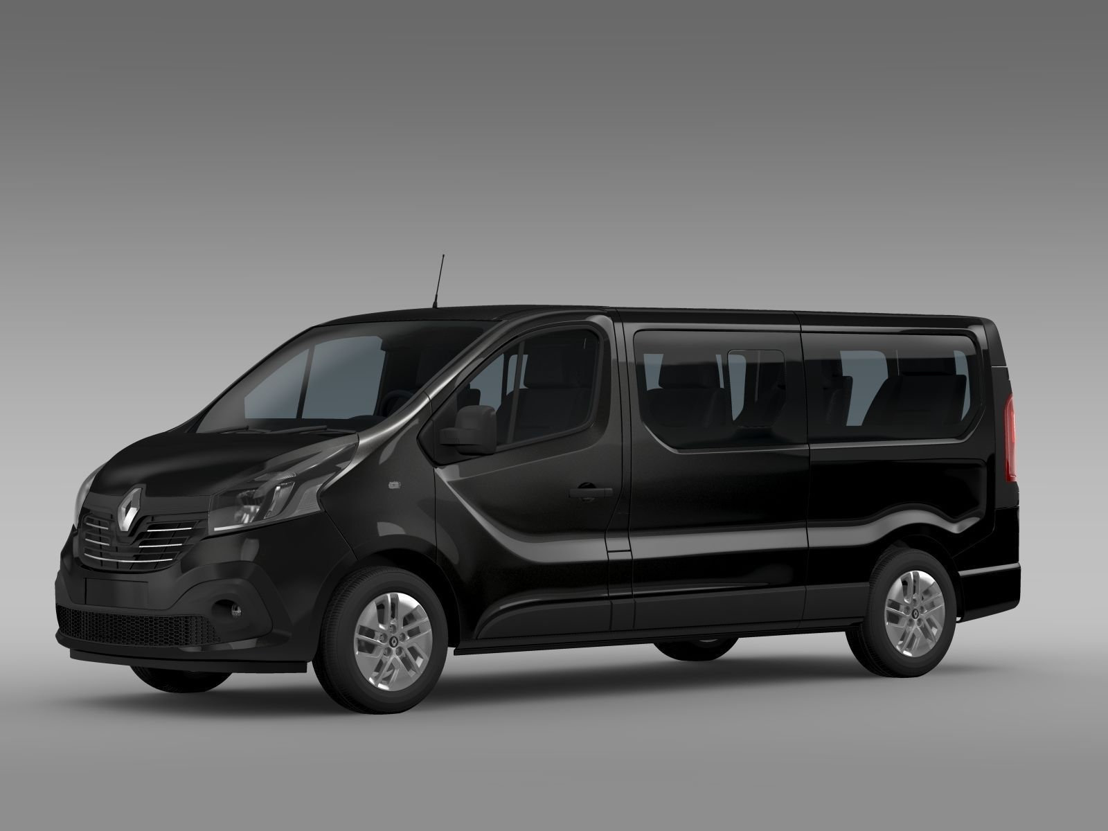 renault trafic minibus l2h1 2015 3d model max obj 3ds fbx c4d lwo lw lws. Black Bedroom Furniture Sets. Home Design Ideas