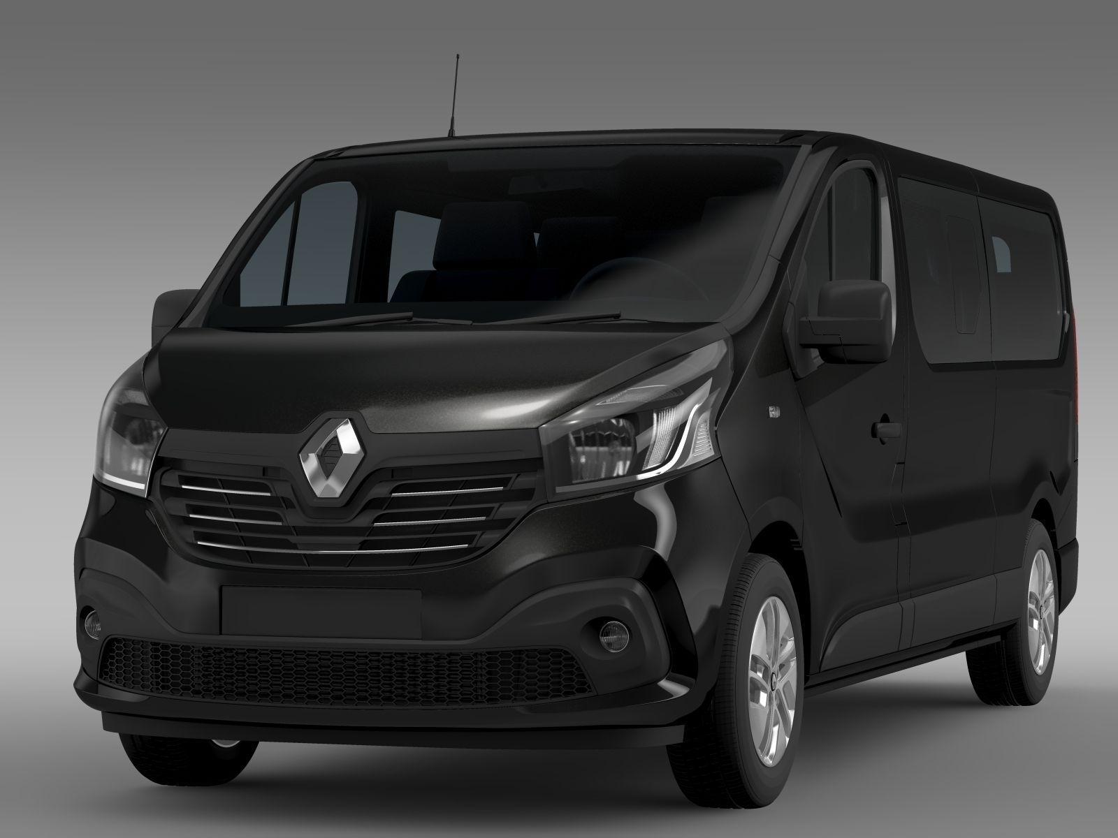renault trafic minibus l2h1 2015 3d model max obj 3ds fbx. Black Bedroom Furniture Sets. Home Design Ideas