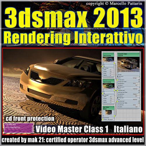 3dsmax 2013 Rendering Interattivo v 1 italiano cd front