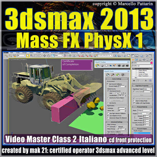 3dsmax 2013 Mass Fx PhysX v 2 Italiano cd front