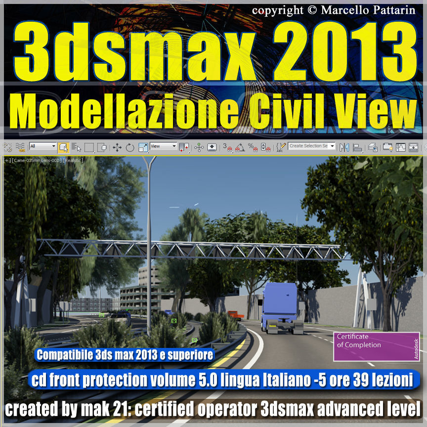 3dsmax 2013 Civil View v 5 cd front