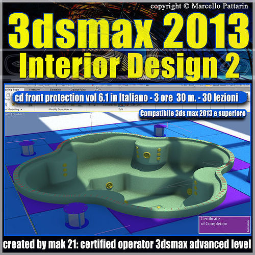 3dsmax 2013 Interior Design v 6 1 Italiano cd front