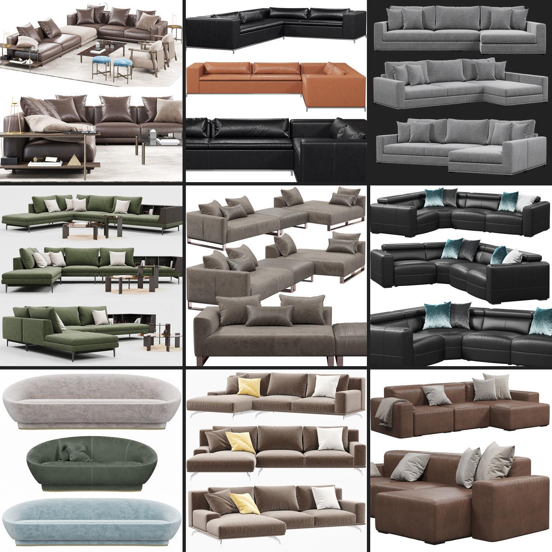 3D model Sofas set 4 | CGTrader