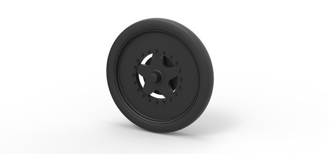 Diecast Front wheel from dragster