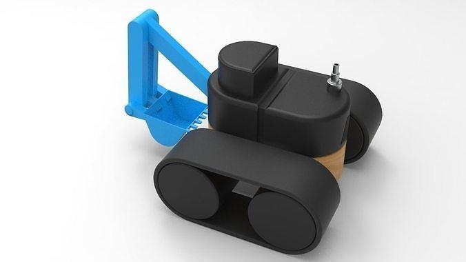 toy excavator  3d model  1