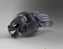 3d model figurine hells angel