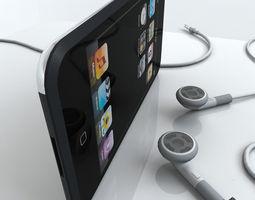 Touch 1st gen with Earphones 3D model