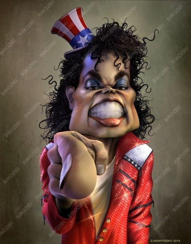 Caricature of Michael Jackson