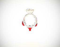 blood diamond ring d18 3d printable model